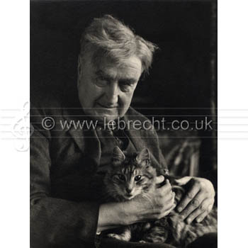 Ralph Vaughan Williams with his cat