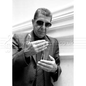 Leonard Cohen - portrait. Canadian poet, novelist, and singer-songwriter.