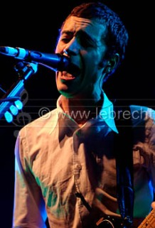 Tom Smith - vocalist of the Editors performing in Bristol, February 2006.