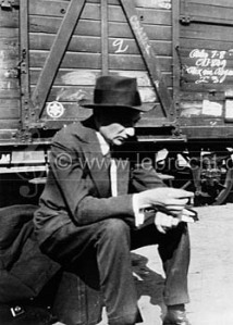 Joseph Roth Joseph Roth waiting on a train platform while traveling in France, 1926. #105249