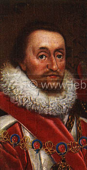 King James I portrait.